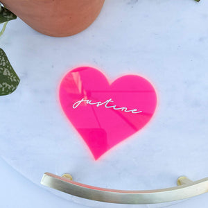 Galentine's Day Heart Place Card