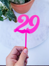 Load image into Gallery viewer, Acrylic Birthday Number Cupcake Topper | Double Number