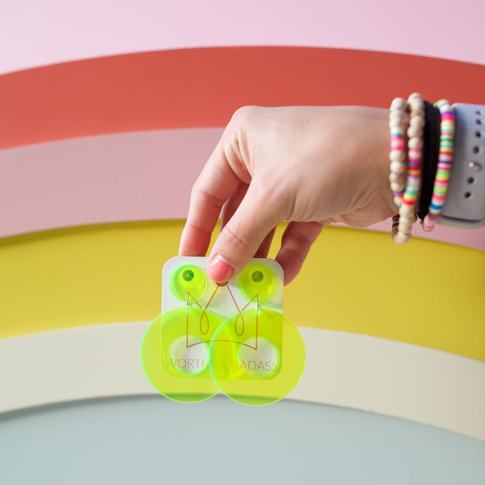 Acrylic Neon Earrings