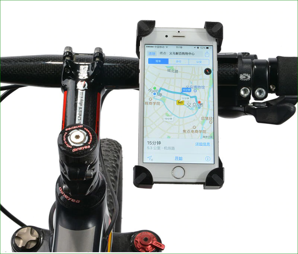 Pro Cellphone Mount For Mountain & Road Bikes, Universal FITS ALL 3 5