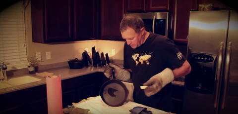 Application Process of Seasoning Cast Iron with Crisbee