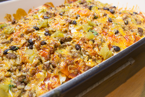 Mexican Lasagna (Layered Enchilada Bake)