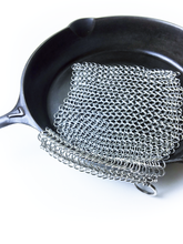"Load image into Gallery viewer, Cast Iron Cleaner  - 8"" x 8"" Chain Mail Scrubber"