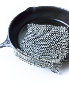 "Cast Iron Cleaner  - 8"" x 8"" Chain Mail Scrubber"