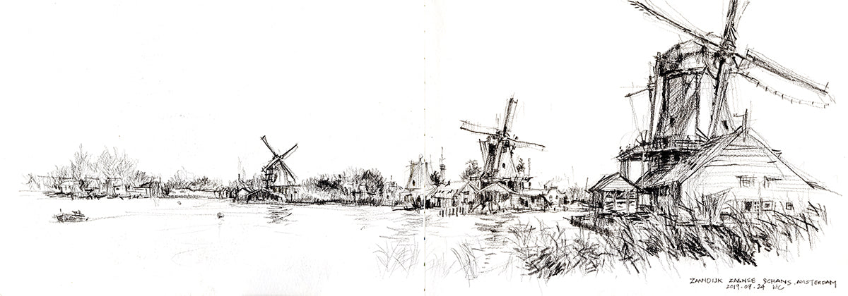 2019 Netherlands - Windmills at Zaanse Schans