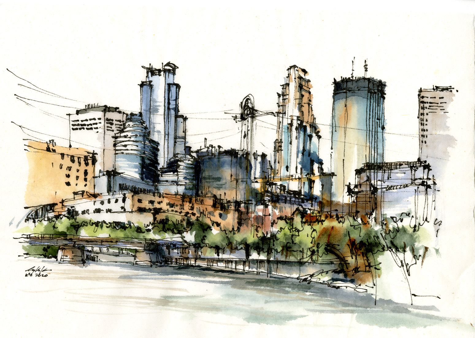 2020 Minneapolis - Downtown Skyline from Boom Island Park