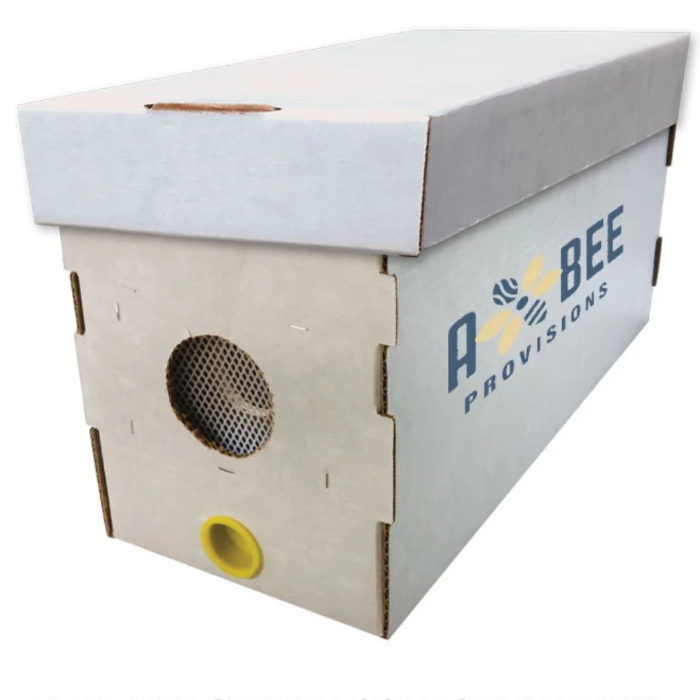 A five-frame nucleus beehive