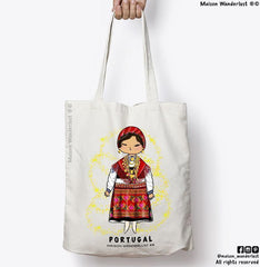 Tote bag 140gr / m² - Portuguese outfit by Minho - Clearance sale