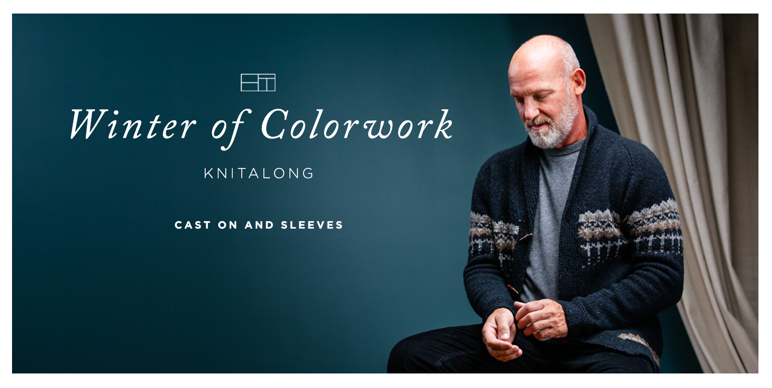 Winter of Colorwork KAL Part 3: Cast On & Sleeves