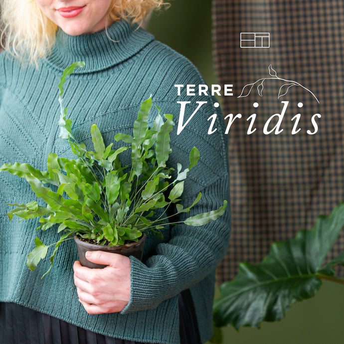 Terre Viridis Fall 2020 | Knitting Pattern Collection Lookbook Cover by Brooklyn Tweed