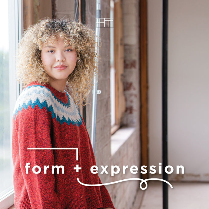 Form + Expression Winter 2021 | Knitting Pattern Collection Lookbook Cover by Brooklyn Tweed