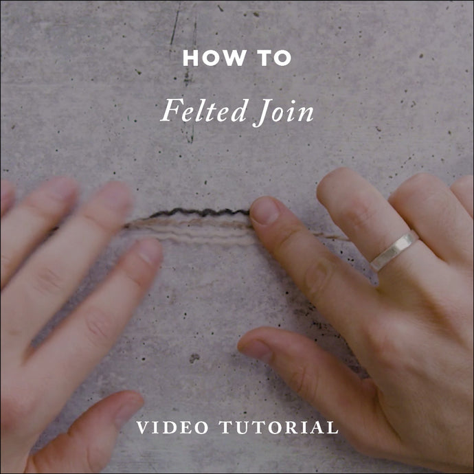 How To Knit Felted Join | Video Knitting Tutorial | Cover