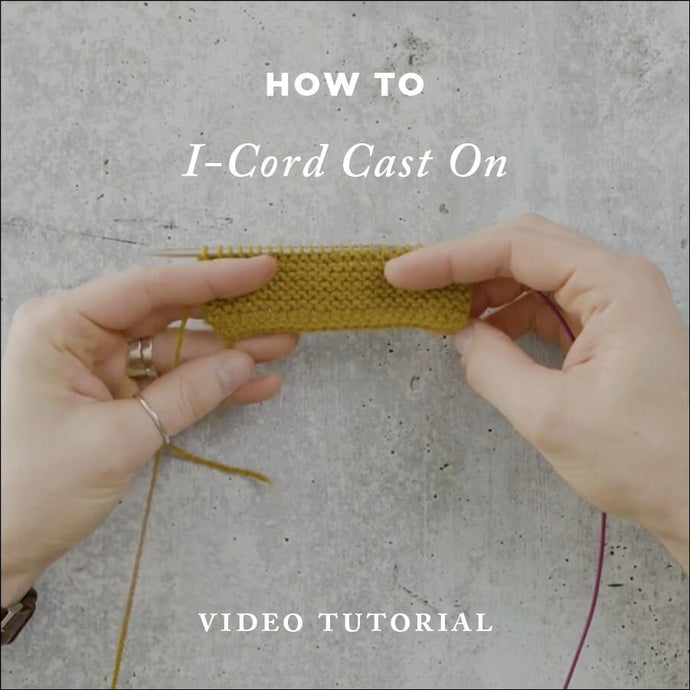 How To Knit: I-Cord Cast On Video Knitting Tutorial