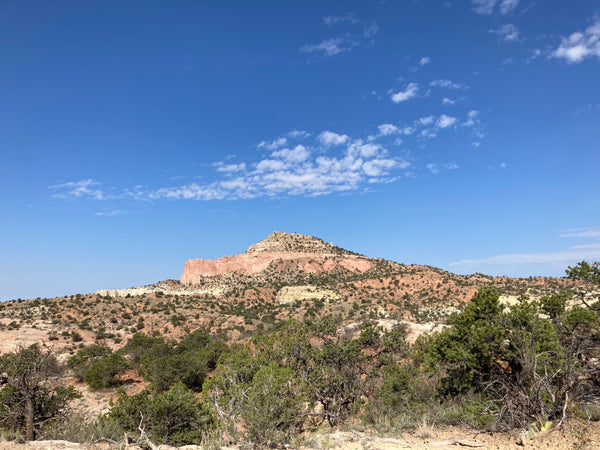 Pyramid Hike Trail in Red Rock Park, the inspiration for the Pyramid Hike Hat design by Tressa Weidenaar