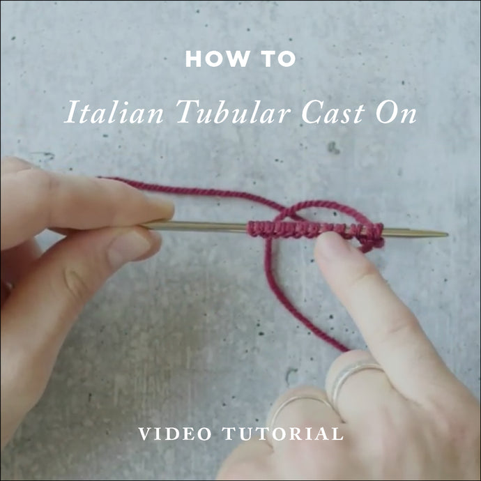 How To Knit Italian Tubular Cast On | Video Knitting Tutorial | Cover