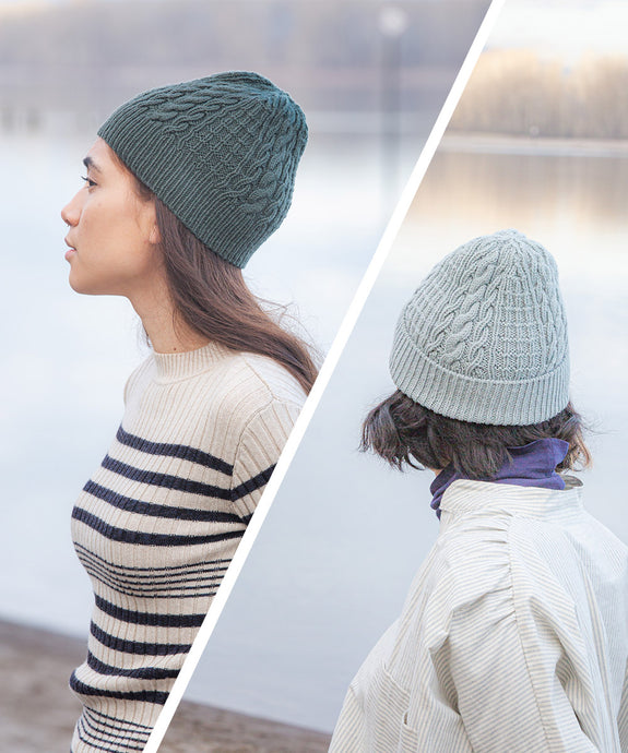 Cover Ely Cables Hat | Knitting Pattern by Lis Smith | Brooklyn Tweed