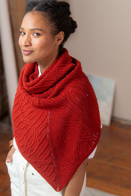 Linocut Wrap & Shawl | Knitting Pattern by Emily Greene | Brooklyn Tweed