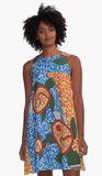 Turtle Family A-Line Dress