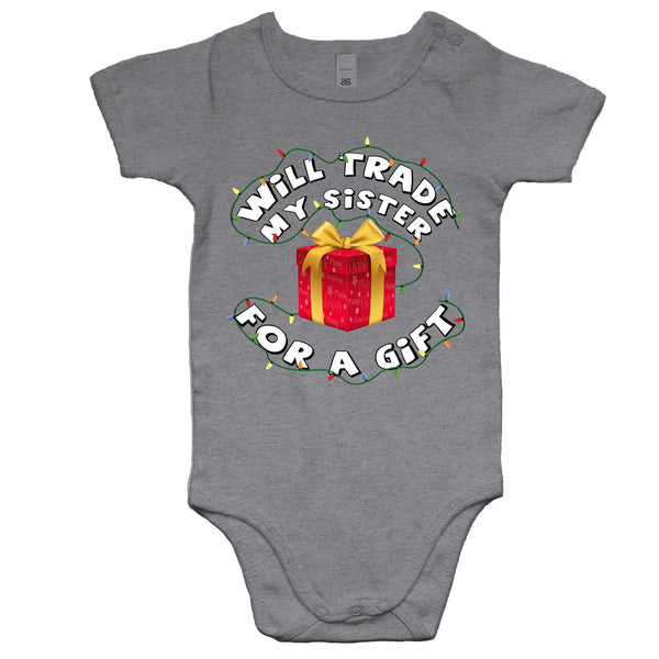 'Will Trade My Sister' Romper