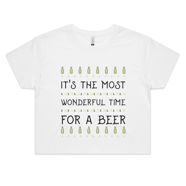 'Wonderful Time For A Beer' Crop Tee