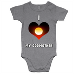 New Dawn 'I Love My Godmother' Romper - White