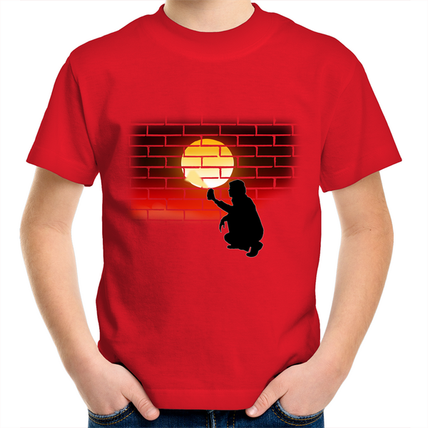 Kids New Dawn 'Bricked Effect' T-Shirt