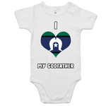 TSI Flag 'I Love My Godfather' Romper - White