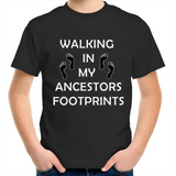 Kids 'Ancestors Footprints Black Print' T-Shirt