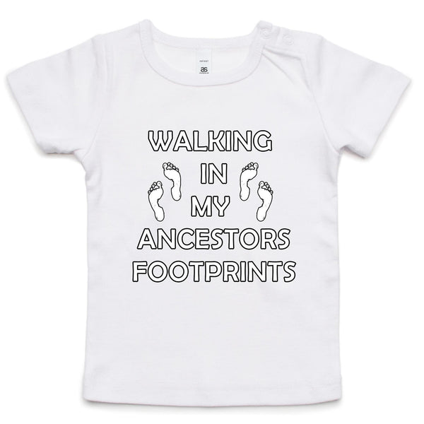 'Ancestors Footprints White Print' Infant Tee