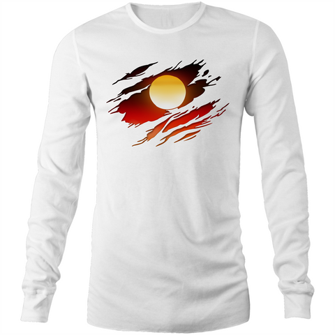 NEW DAWN 'RIPPED EFFECT' LONG SLEEVE T-SHIRT