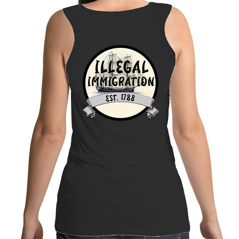 'ILLEGAL IMMIGRATION EST. 1788' Singlet
