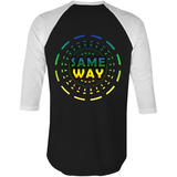 'Whichway' 3/4 Sleeve Mens T-Shirt