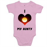 New Dawn 'I Love My Aunty' Romper - Black