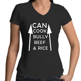 'Can Cook Bully Beef & Rice' V-Neck T-Shirt