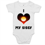 New Dawn 'I Love My Sissy' Romper - Black