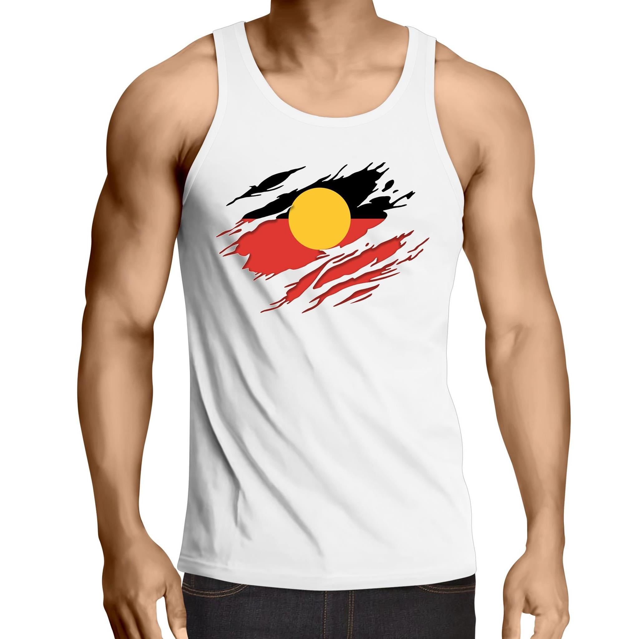 'Ripped Effect' Mens Singlet