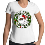 'Merry Christmas Ya Dumb Dawgs' V-Neck T-Shirt