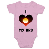 New Dawn 'I Love My Bro' Romper - Black