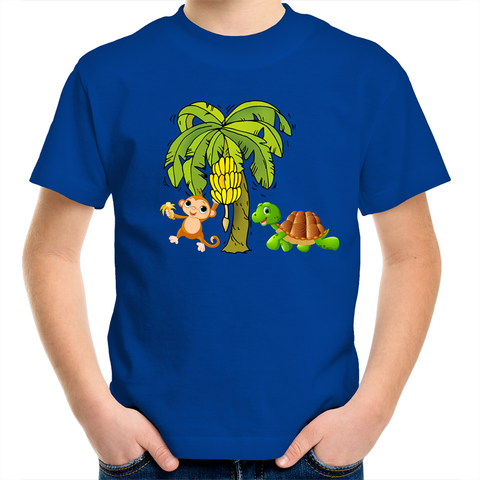 'Monkey & Tortle' Kids T-Shirt