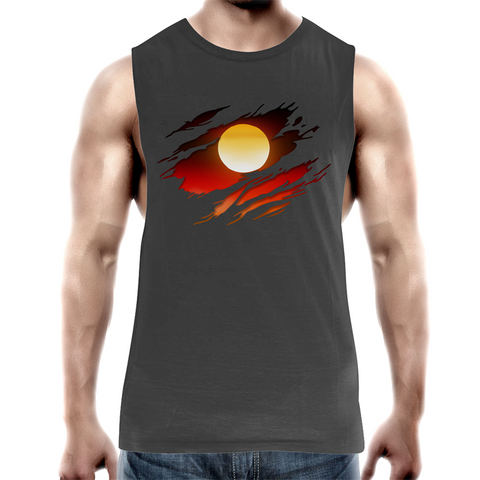 NEW DAWN 'RIPPED EFFECT' TANK TOP TEE