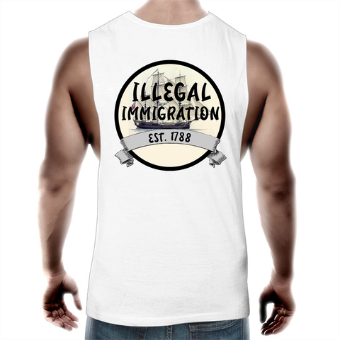 'Illegal Immigration Est. 1788' Mens Tank Top Tee