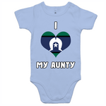 TSI Flag 'I Love My Aunty' Romper - White