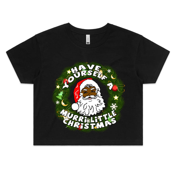 'Have Yourself A Murri Little Christmas' Crop Tee