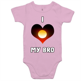 New Dawn 'I Love My Bro' Romper - White