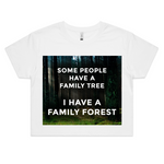 'Family Forest' Crop Tee