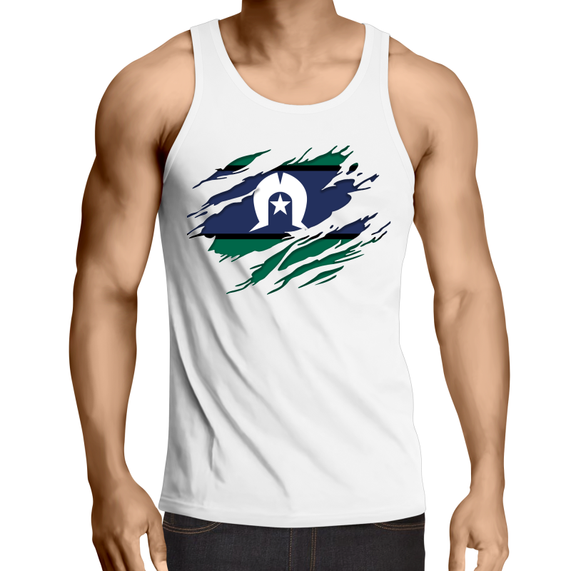 TSI 'Ripped Effect' Mens Singlet