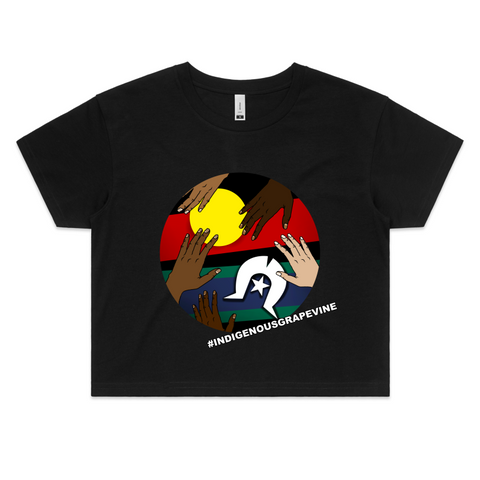 'Indigenous Grapevine' Crop Tee