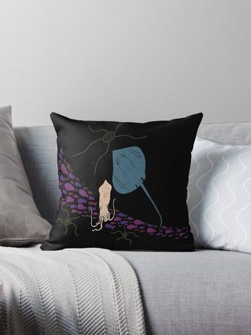 'Squid + Stingray' Cushion Cover