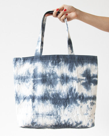 Hand-dyed Fold Up Tote