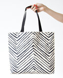 Chevron Fold Up Tote